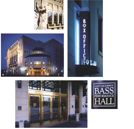 Bass Performance Hall, exterior photos of the project